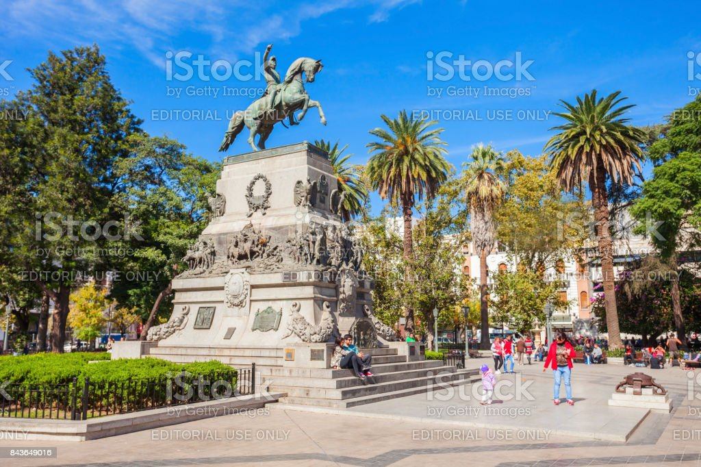 Plaza San Martin, Cordoba stock photo