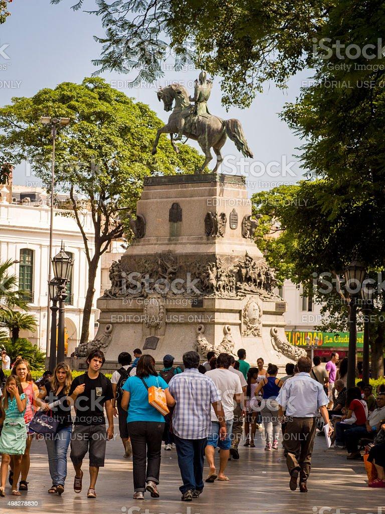 Plaza San Martin in Cordoba, Argentina stock photo