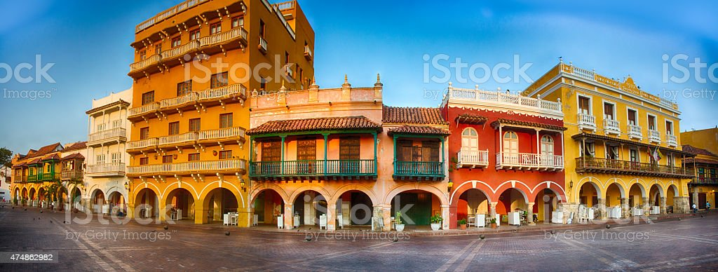 Plaza San Pedro Claver stock photo