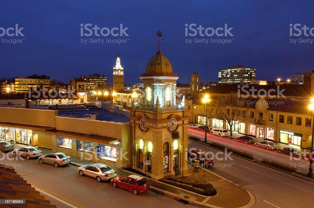 Plaza shopping center, Kansas City, MO royalty-free stock photo