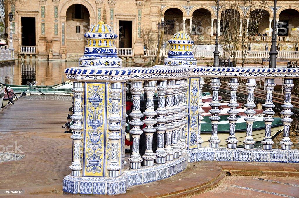 Plaza Spain, Sevilla royalty-free stock photo
