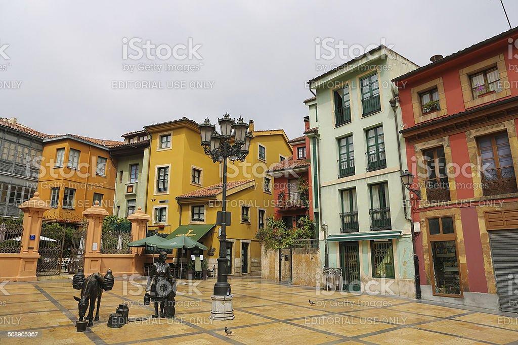 Plaza Trascorrales in Oviedo stock photo