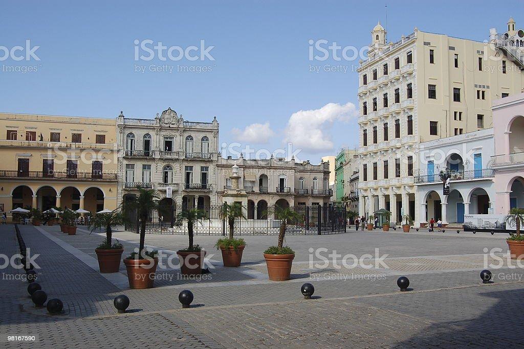 Plaza Vieja, Havana stock photo