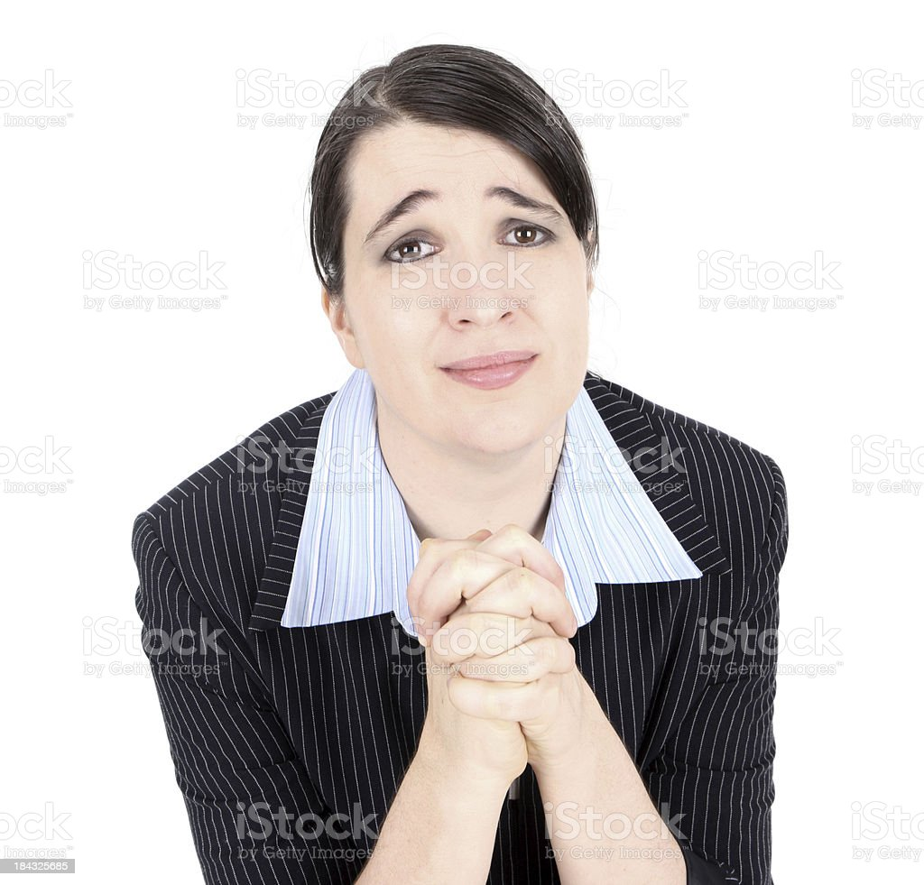 Pleading Business woman stock photo