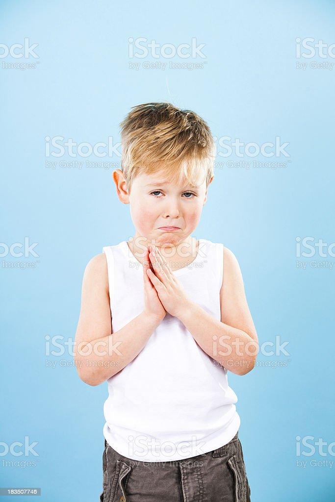 Pleading Child royalty-free stock photo