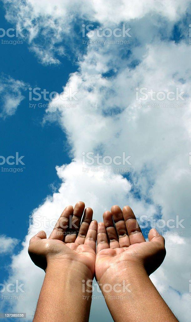 Pleading Hands stock photo