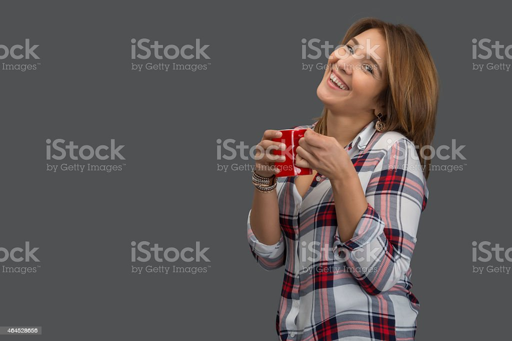 pleasant coffee time stock photo