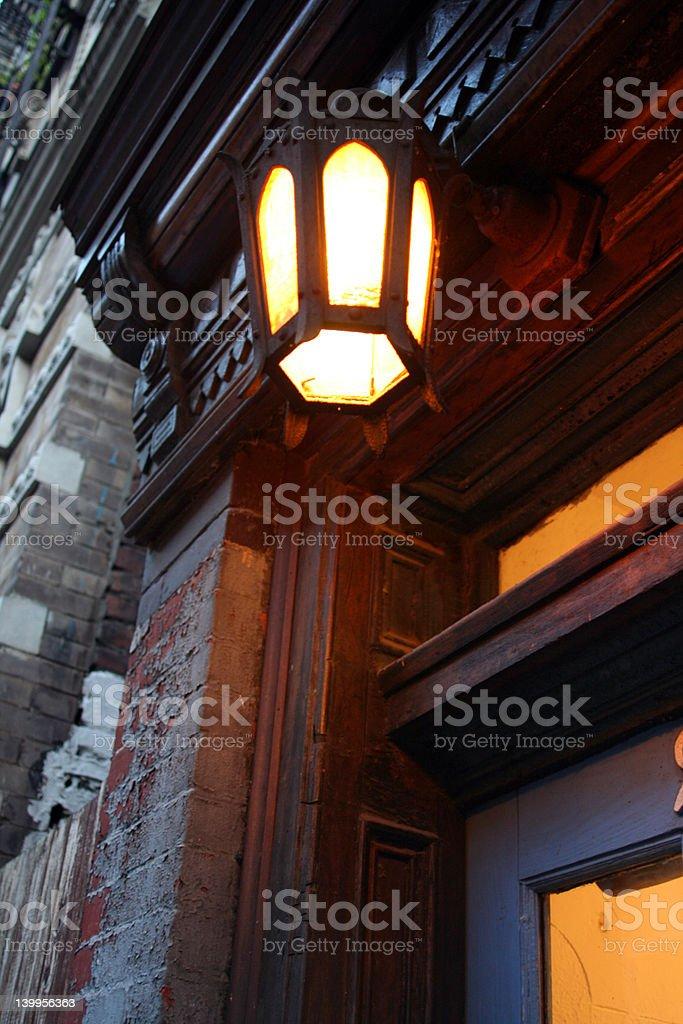 Pleasant entranceway stock photo