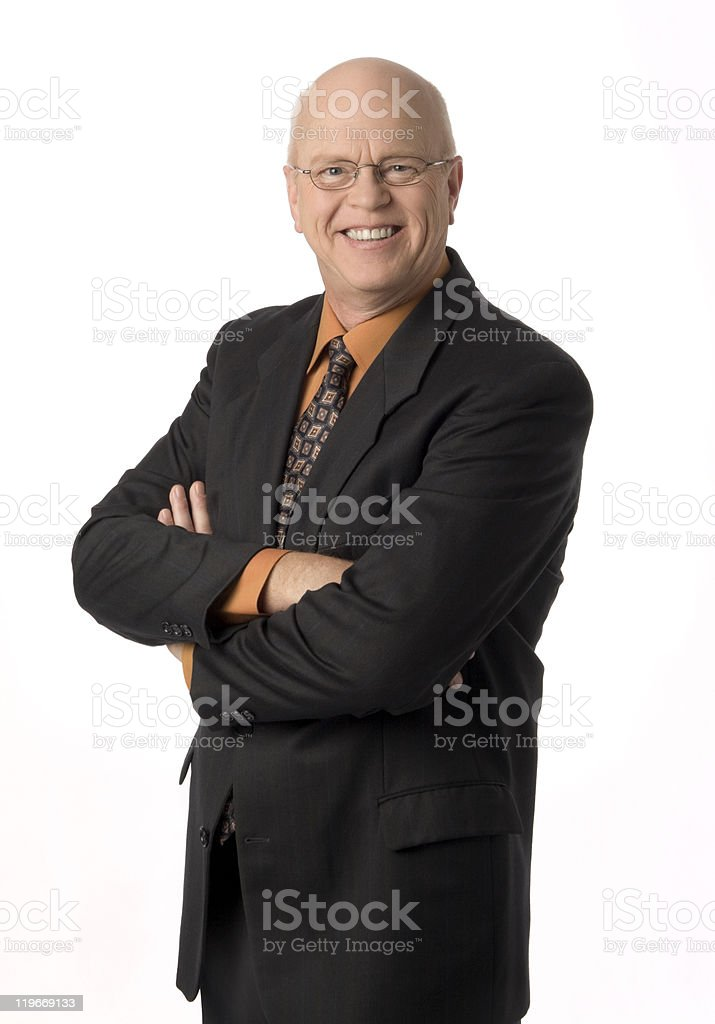 Pleasant Mature Businessman royalty-free stock photo