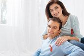 Pleasant optimistic couple showing their tolerance