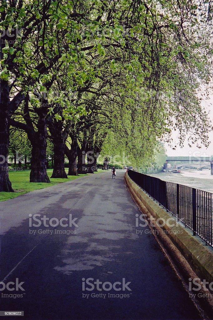 Pleasant Pathway. stock photo
