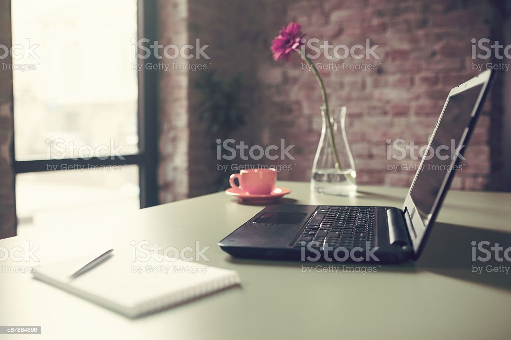 Pleasant place for working stock photo