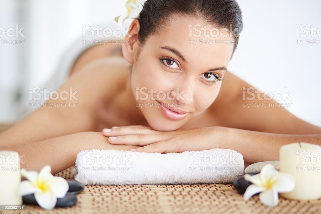Pleasant procedure stock photo