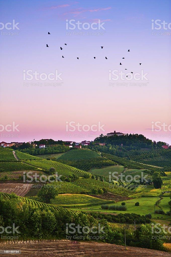 Pleasant rural scene stock photo