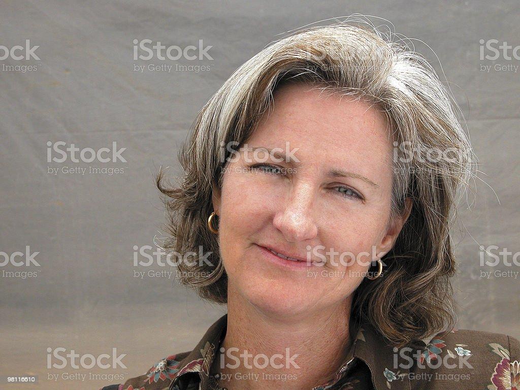pleasant smile stock photo