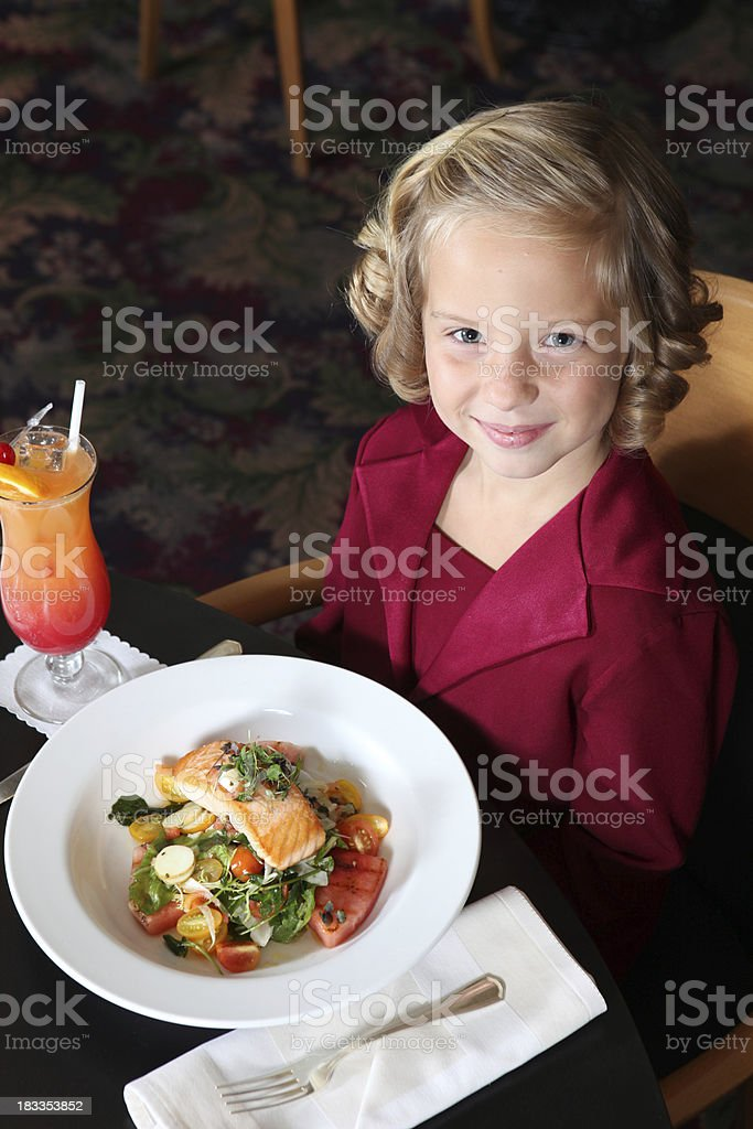 Pleasant Young Blonde Girl stock photo