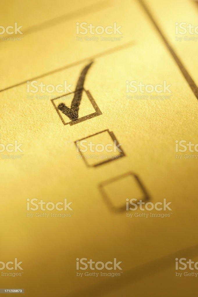 Please Check Box royalty-free stock photo