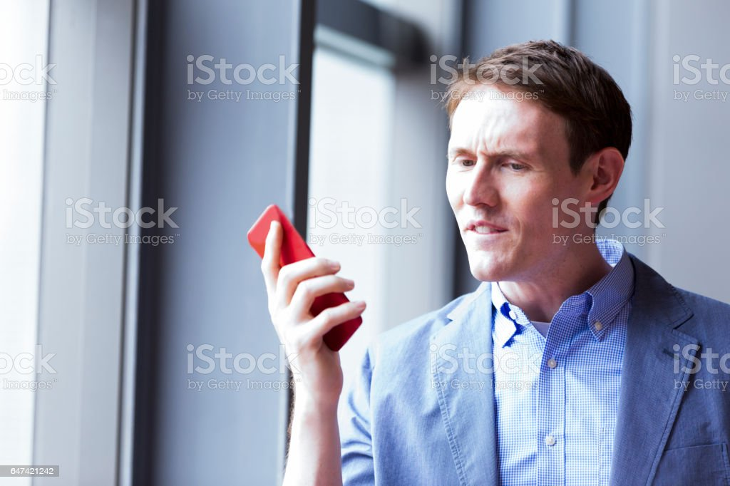 Please do not call me again, there is no business here stock photo