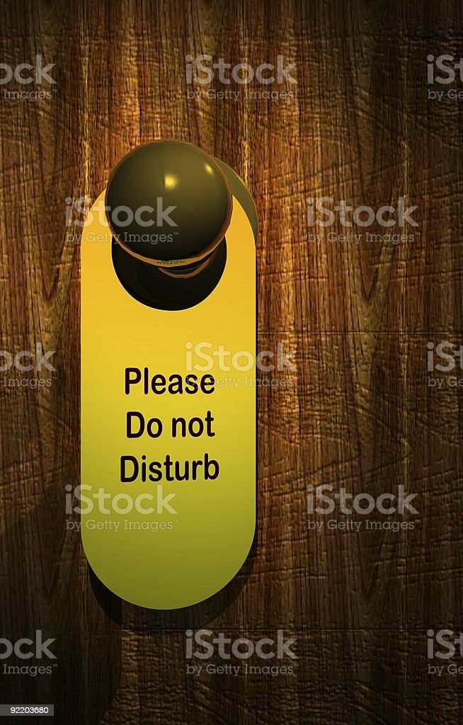 Please Do Not Disturb royalty-free stock photo