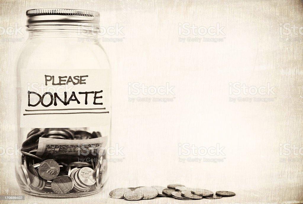 Please Donate stock photo