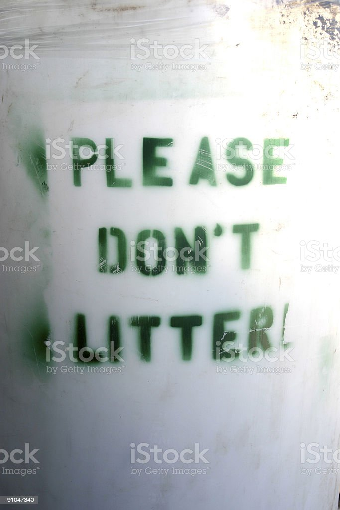 Please don't litter stock photo