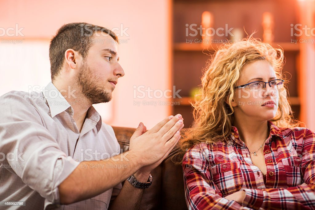 Please forgive me darling! stock photo