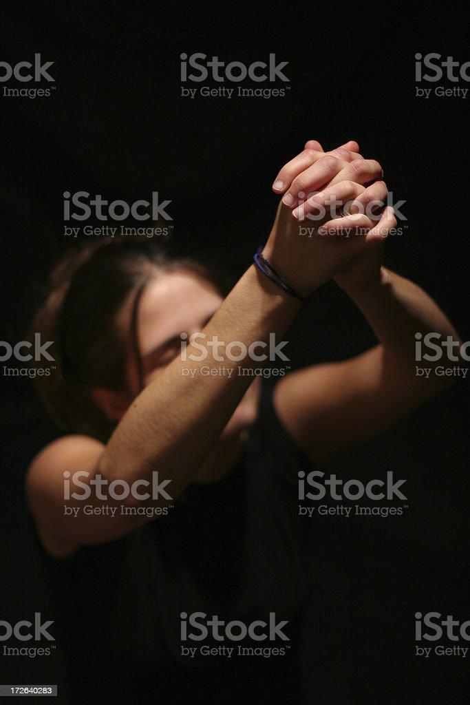 Please Hear My Prayers royalty-free stock photo