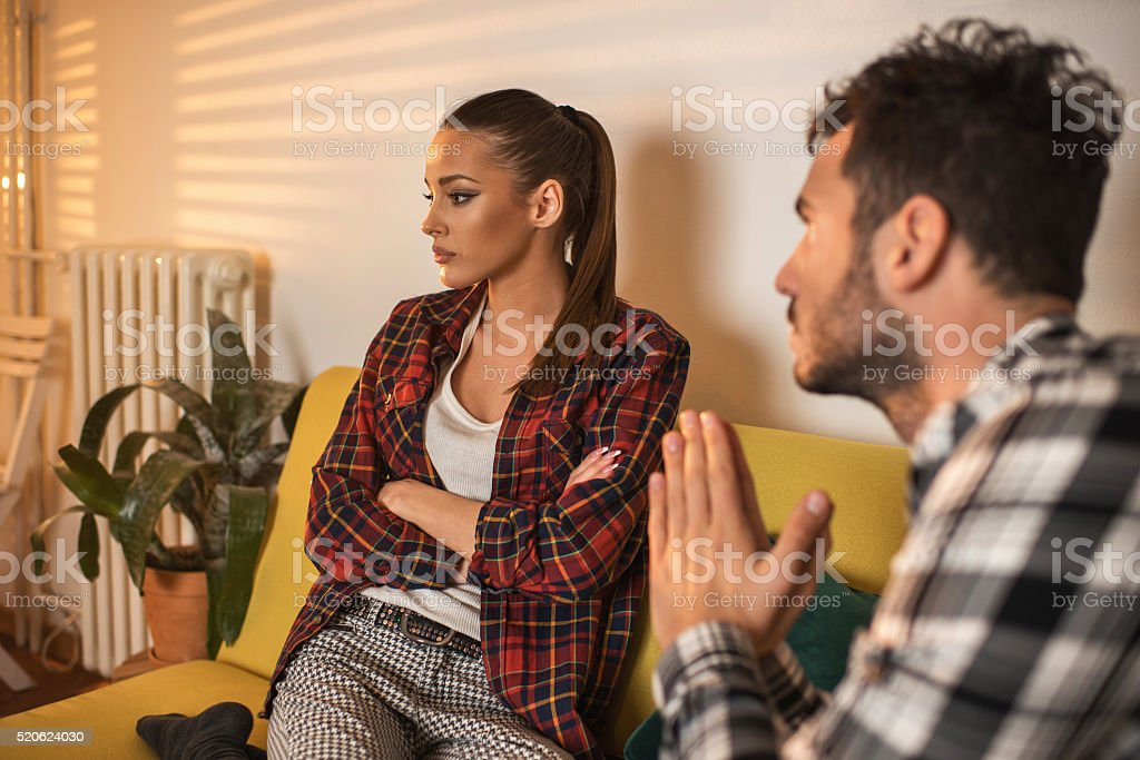 Please honey forgive me! stock photo