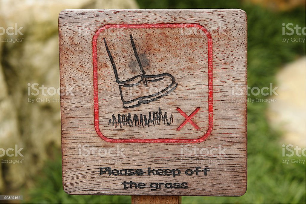 Please keep off the grass royalty-free stock photo