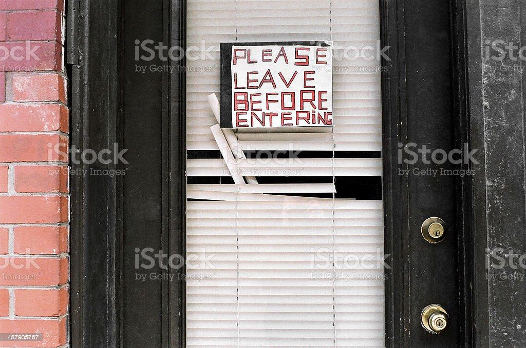 Please Leave stock photo