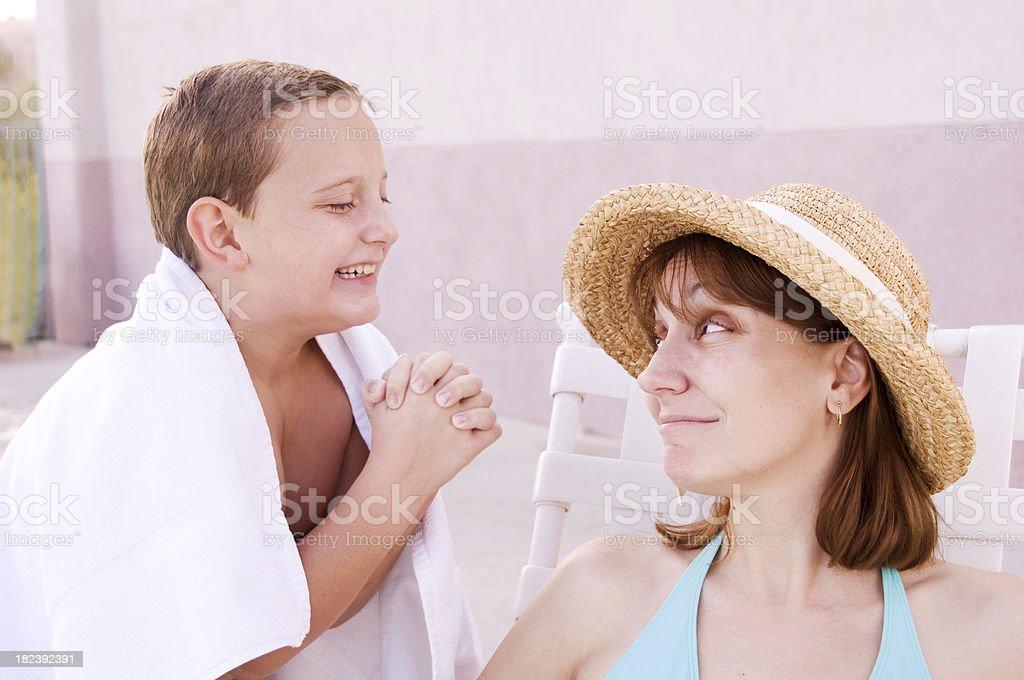 Please, Mom? stock photo