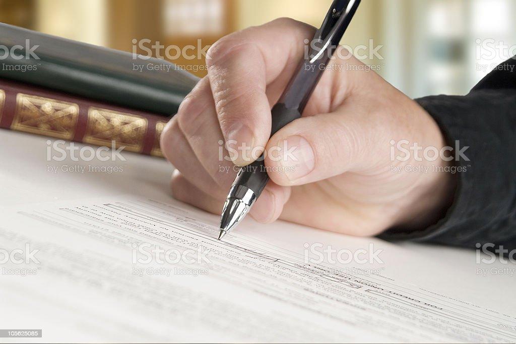 Firme aquí, por favor foto de stock libre de derechos