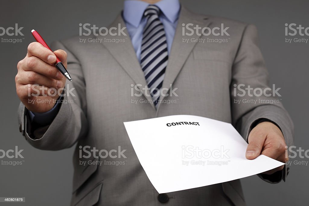 Please sign the contract stock photo
