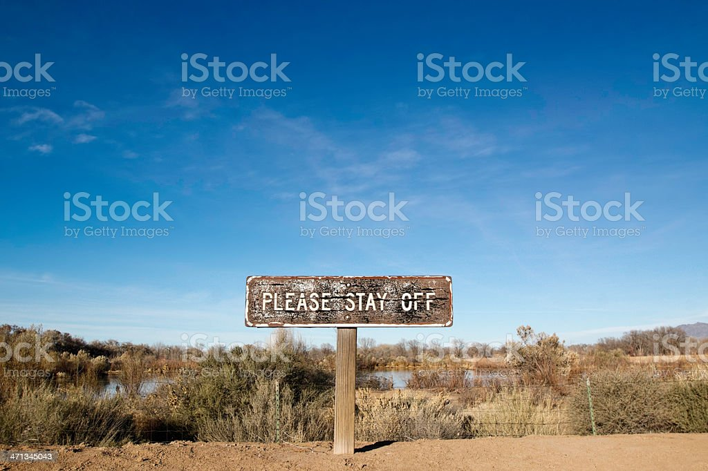 please stay off landscape sky royalty-free stock photo
