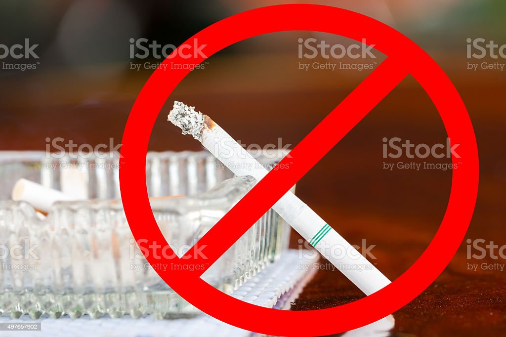 Please stop smoking for healthy stock photo