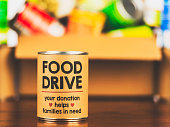 Please support our food drive. Canned food drive