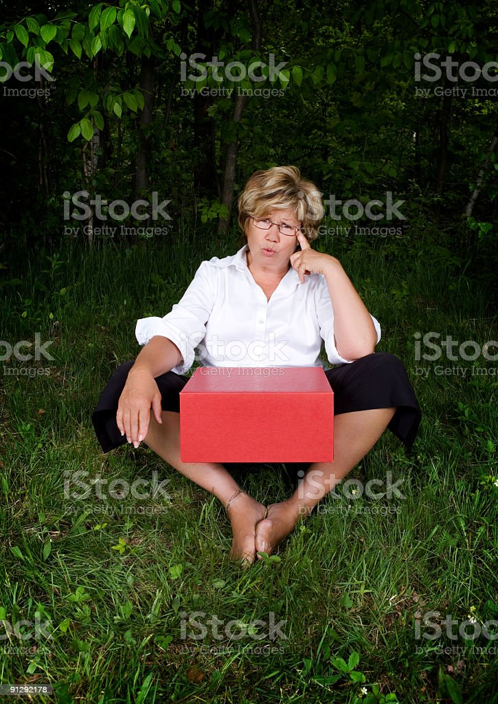 Please, tell me what's in the box royalty-free stock photo