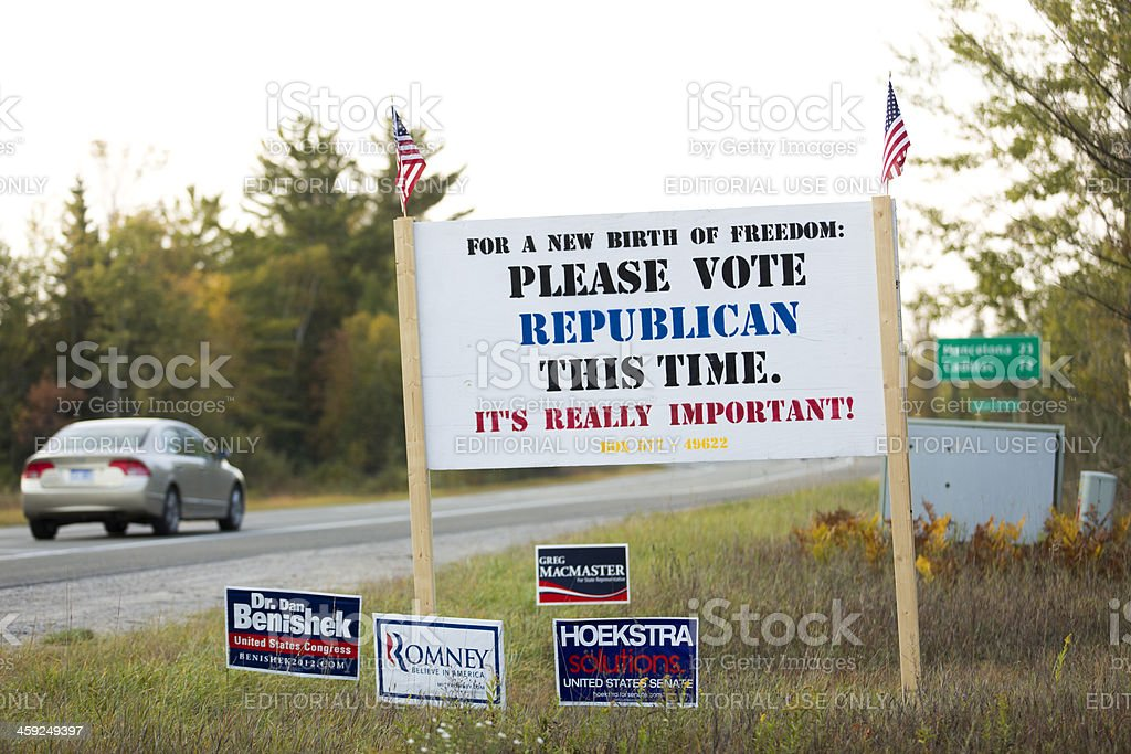 please vote republican this time stock photo
