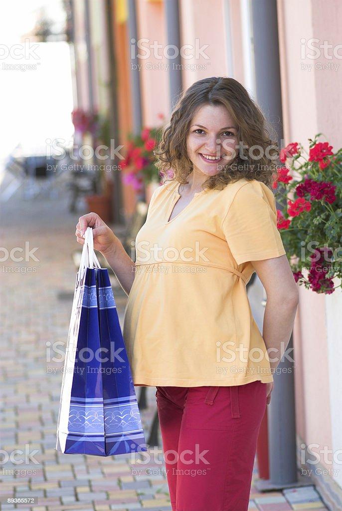 Pleased customer stock photo