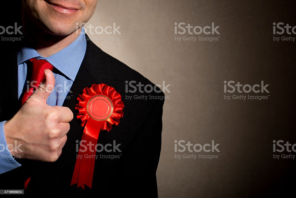Pleased Election Candidate stock photo