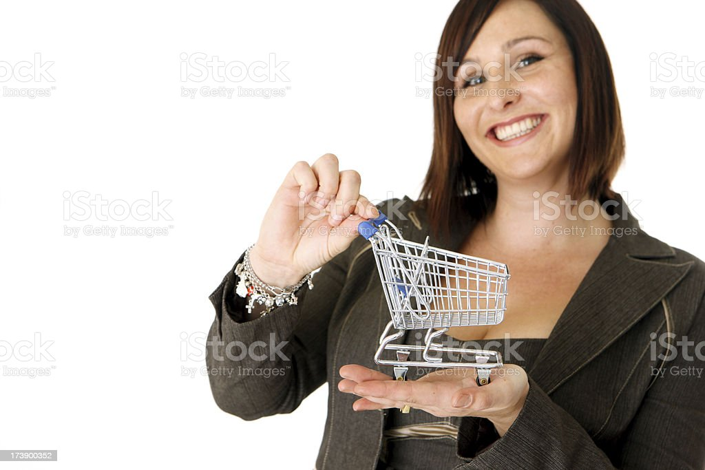 Pleased Shopper royalty-free stock photo