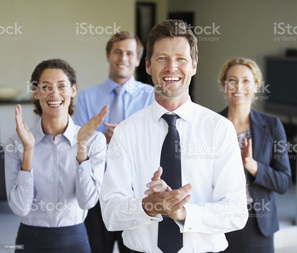 Pleased to have aided in your success royalty-free stock photo