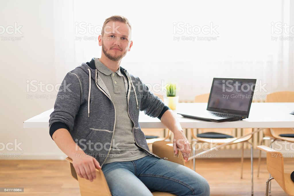 Pleased with my work stock photo