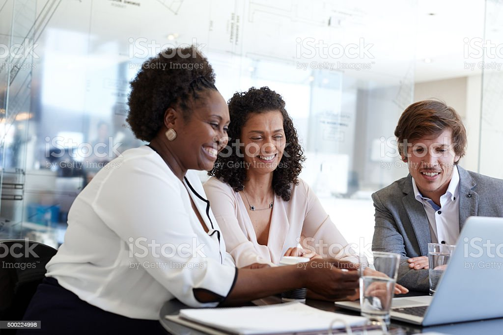 Pleased with the outcome of their latest business deal stock photo