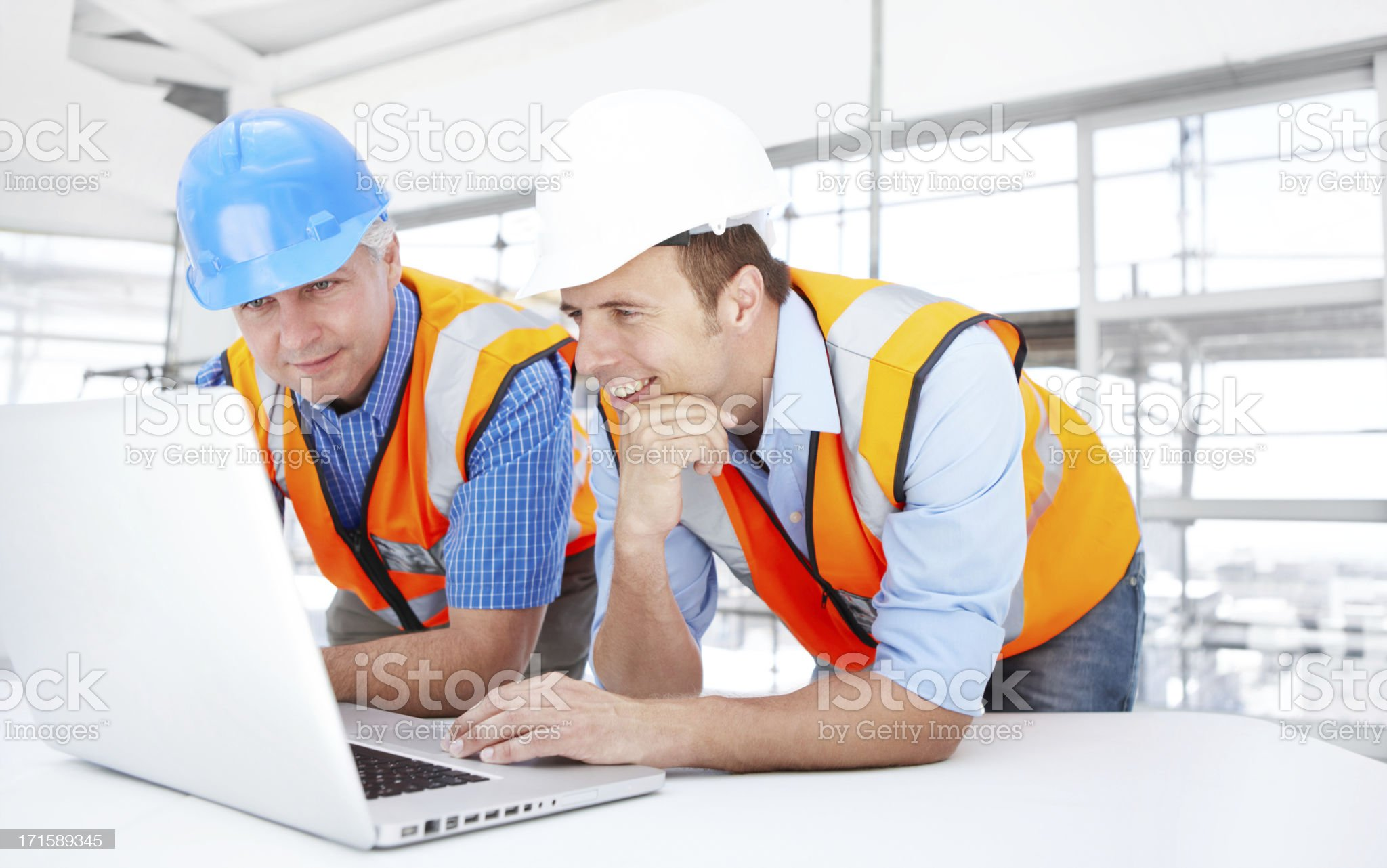 Pleased with their progress royalty-free stock photo