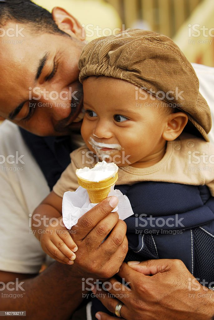 Pleasing my son stock photo