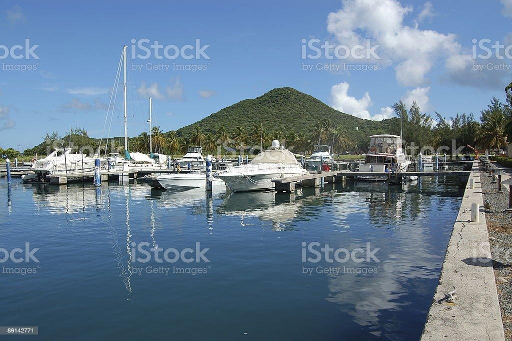 Pleasure boat marina royalty-free stock photo