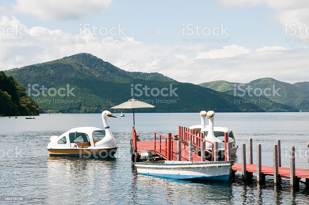 Pleasure boats stock photo