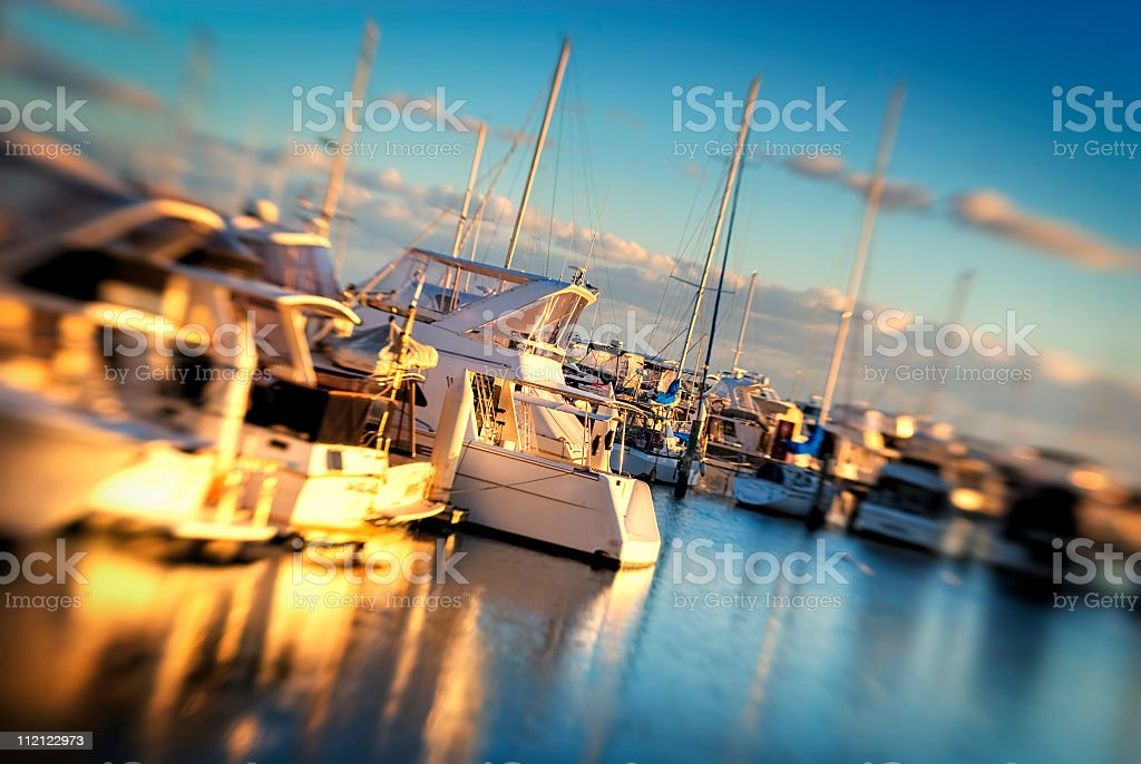 Pleasure Craft in Marina royalty-free stock photo