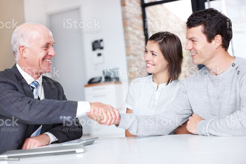 Pleasure doing business with you, sir! royalty-free stock photo